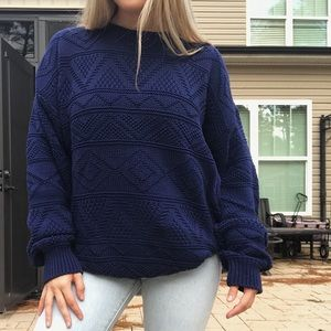 Chunky Knit Oversized Vintage Sweater